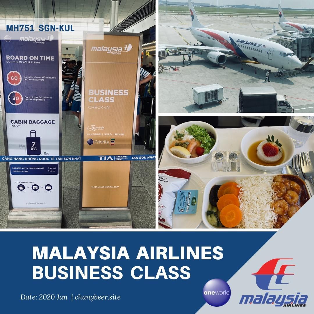 JGC修行開幕戦。マレーシア航空小型旅客機でクアラルンプール へ寄り道飛行(B737-800/MH751)
