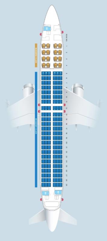 マレーシア航空B737-800/MH751搭乗記(座席・シート構成)