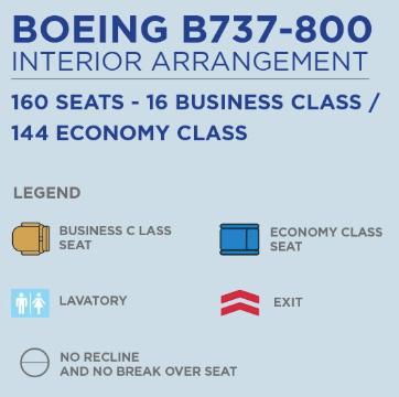マレーシア航空B737-800/MH751搭乗記(機材説明)