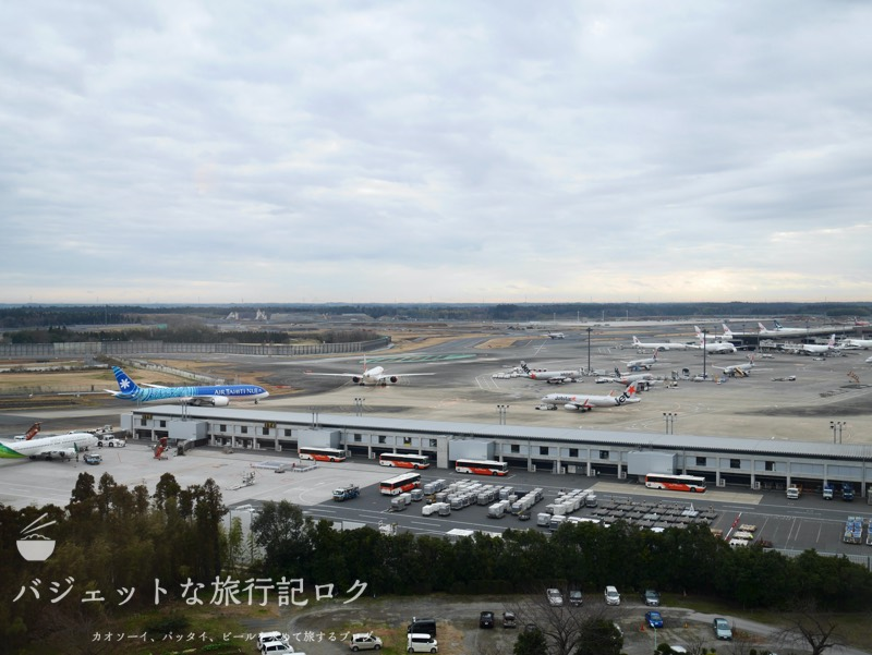 東横イン成田空港新館の宿泊記(客室からの眺め)