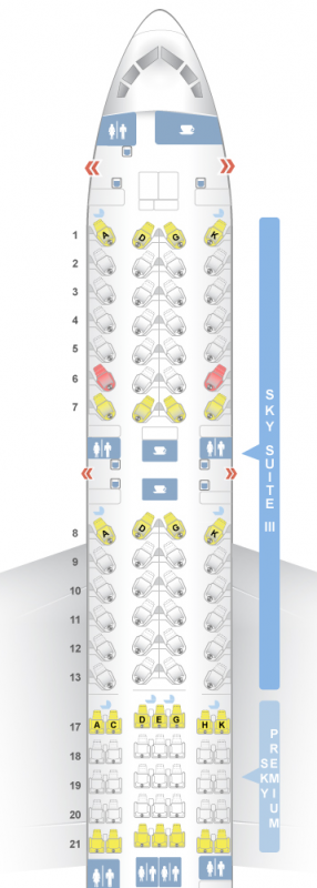 B787-9座席構成