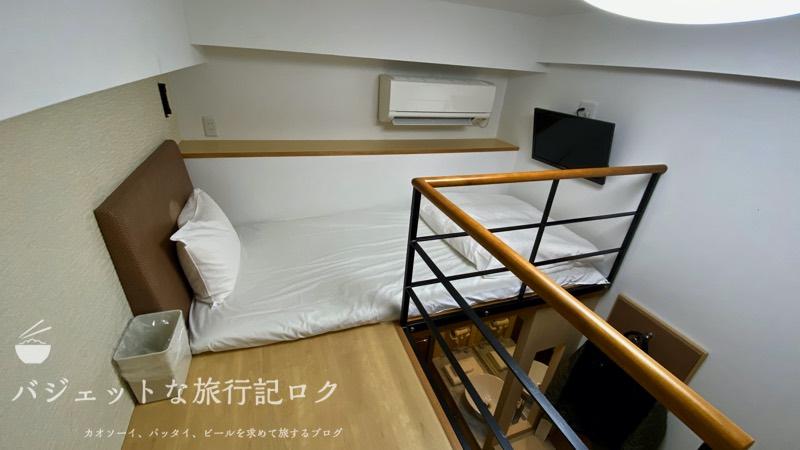 かりゆしLCH泉崎 宿泊記(ベッドと言うかお布団は部屋の2Fにある)