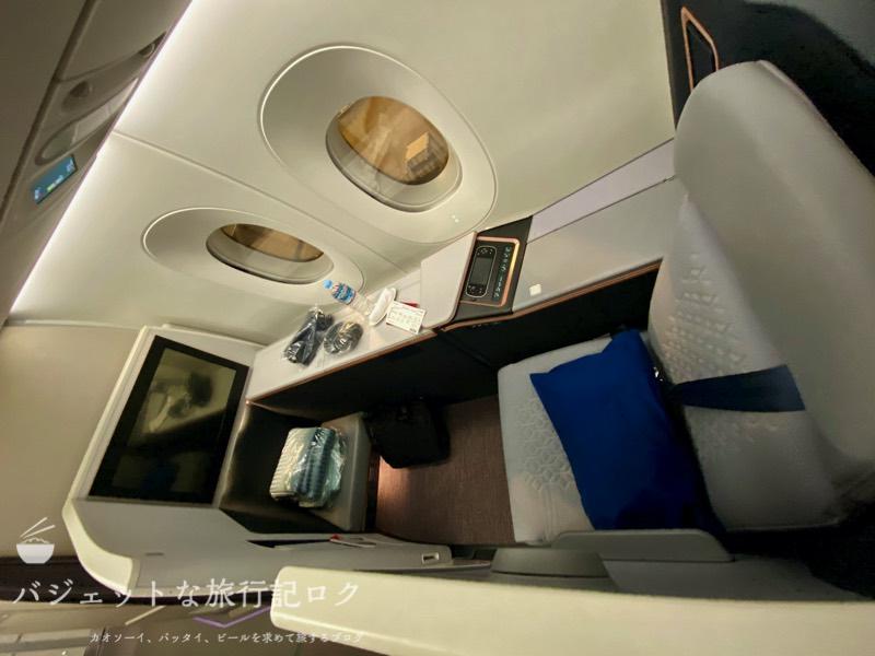 マレーシア航空A350-900ビジネススイート搭乗記(たった4席しかないビジネススイート!)