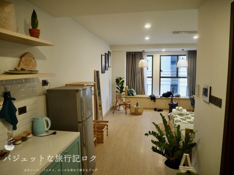 ホーチミン4区で民泊・エアビ・Airbnb(部屋に入室したところ)