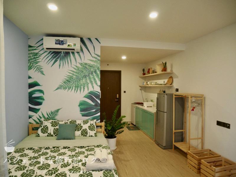 ホーチミン4区で民泊・エアビ・Airbnb(部屋の全景)