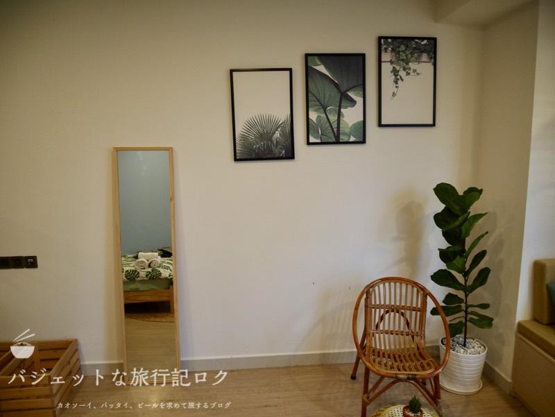 ホーチミン4区で民泊・エアビ・Airbnb(部屋の飾りや鏡)