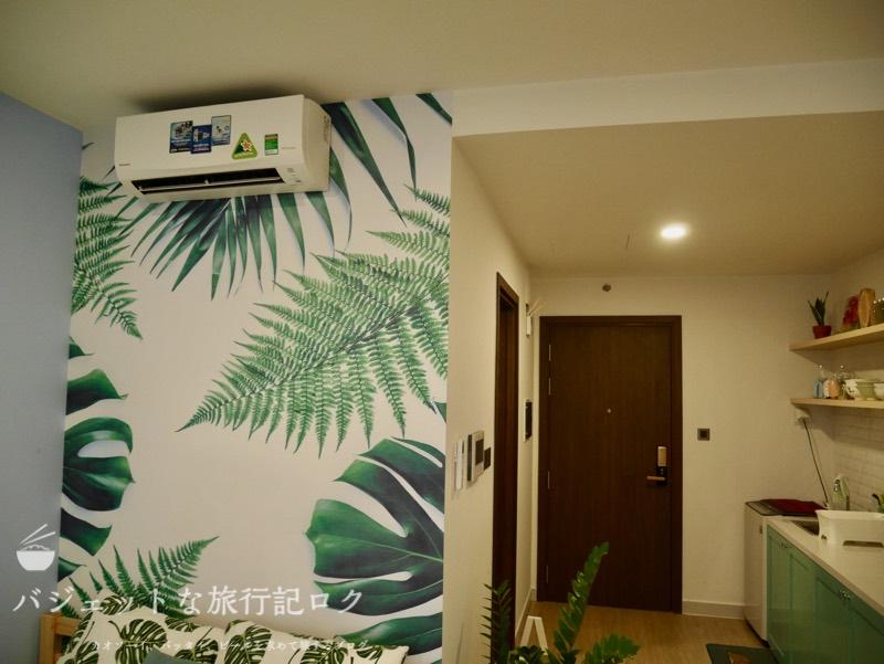 ホーチミン4区で民泊・エアビ・Airbnb(エアコンはしっかりしたものが備わっていた)
