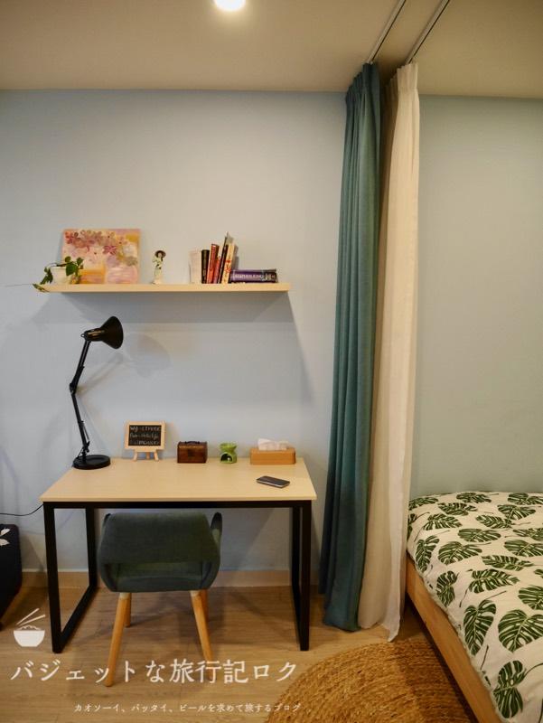 ホーチミン4区で民泊・エアビ・Airbnb(シンプルなデスクとチェア)