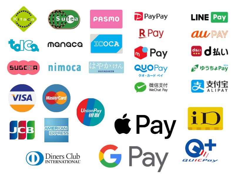 「なんとかペイ」多すぎ・乱立しすぎ(クレジットカード、QRコード決済、非接触決済、交通系決済などの一覧画像)