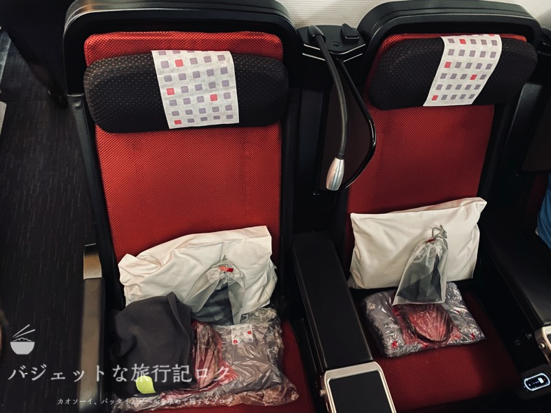 JAL国際線プレミアムエコノミー搭乗記(隣いませんでした)