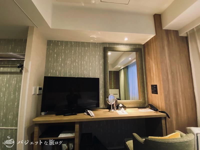 【宿泊記】ホテル・トリフィート那覇旭橋(テレビ台)