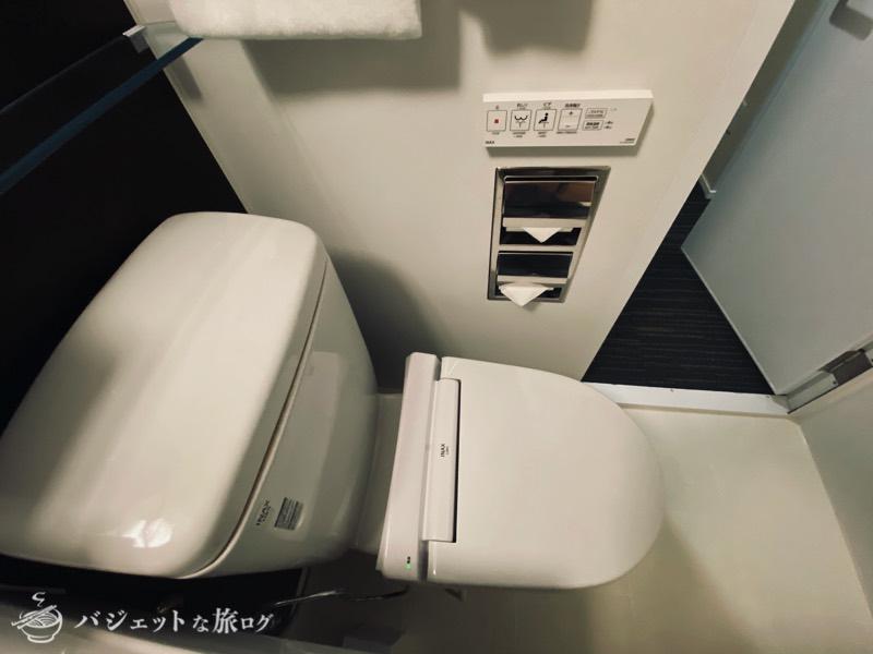 【宿泊記】ホテル・トリフィート那覇旭橋(ウォシュレット付きのトイレ)