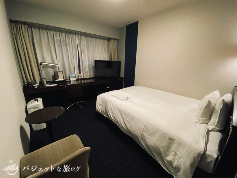 【宿泊記】リッチモンドホテル山形駅前(広々ベッドとデスクの客室)