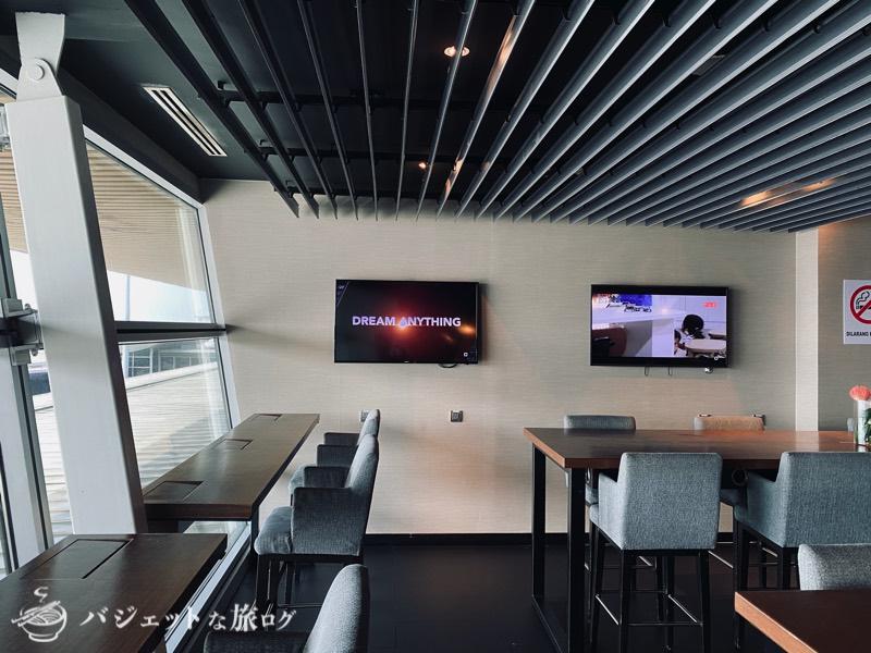 クアラルンプール国際空港・マレーシア航空サテライト側ビジネスクラス・ゴールデンラウンジ(アルコールはバーのみで提供されます)