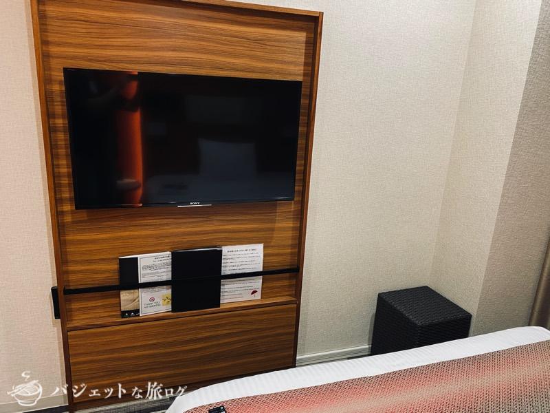 国際通り沿いにあるホテルJALシティ那覇の宿泊記(40インチくらいのテレビ、壁がけだと場所取らなくていいよね)