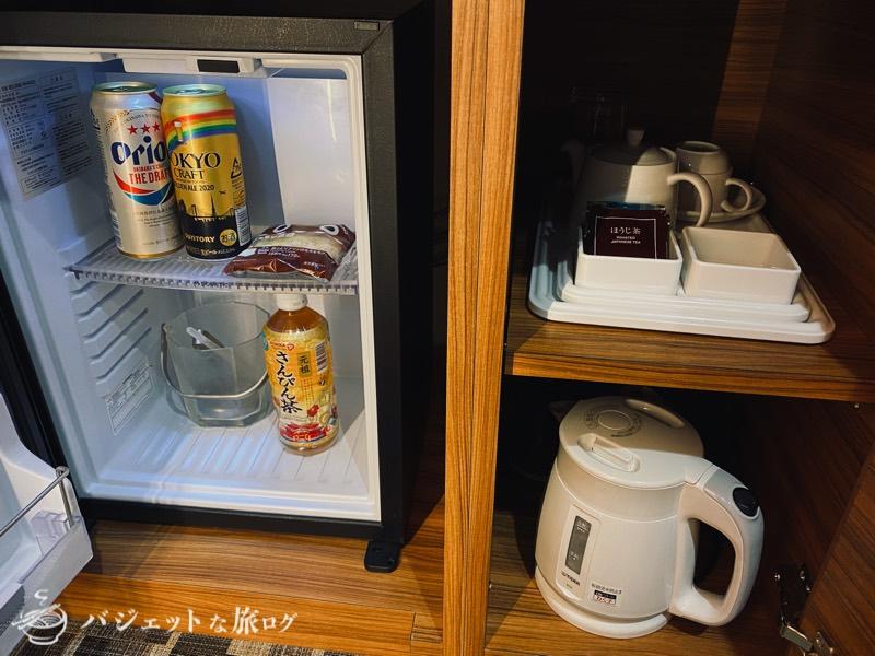 国際通り沿いにあるホテルJALシティ那覇の宿泊記(冷蔵庫とかお茶)