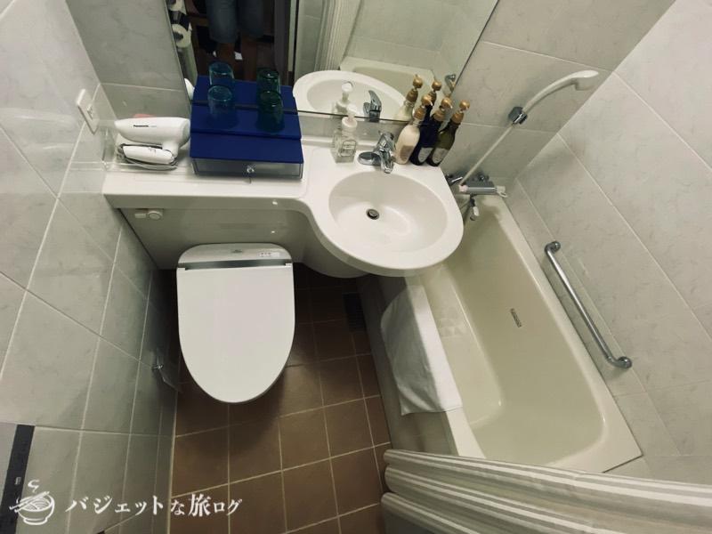 アルモントホテル那覇おもろまち宿泊記(バスルーム)