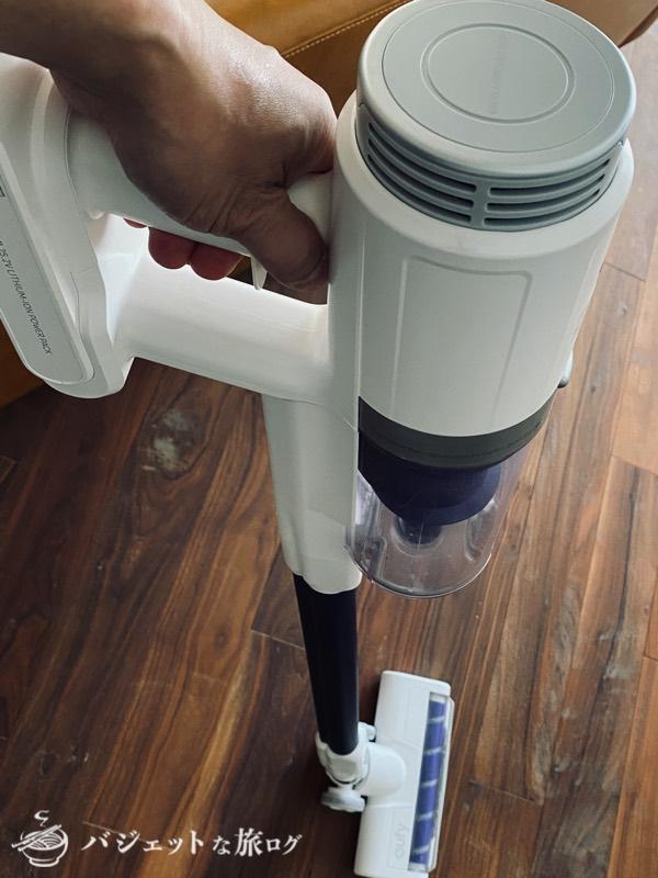 スティック型・サイクロン掃除機「Eufy HomeVac S11 Go」レビュー(スティックタイプとしての掃除)