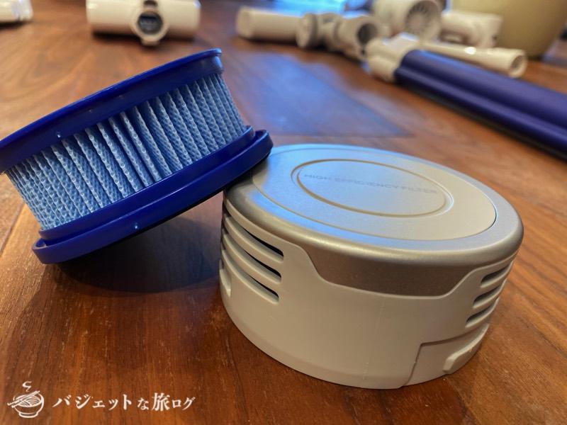 スティック型・サイクロン掃除機「Eufy HomeVac S11 Go」レビュー(本体後部フィルターも取り外して丸洗いできる)
