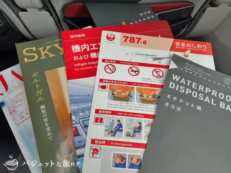 JALで羽田から伊丹へ移動(B787-8/国内線仕様)