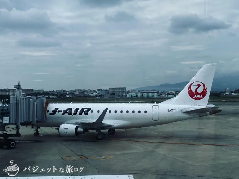 JALで羽田から伊丹へ移動(エンブラエル170)