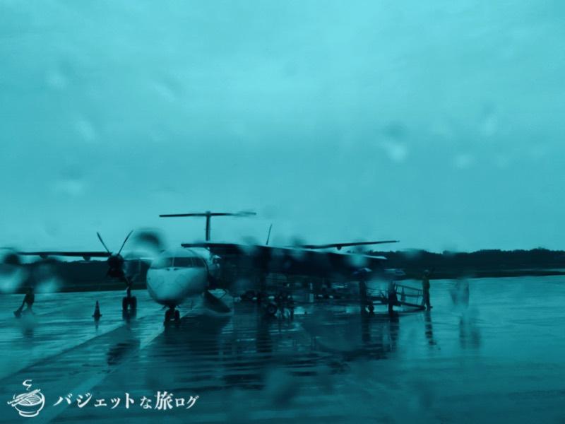 JALで羽田から伊丹へ移動(バスからの風景)