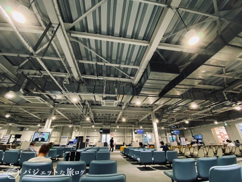 熊本空港の国内線仮設ターミナル