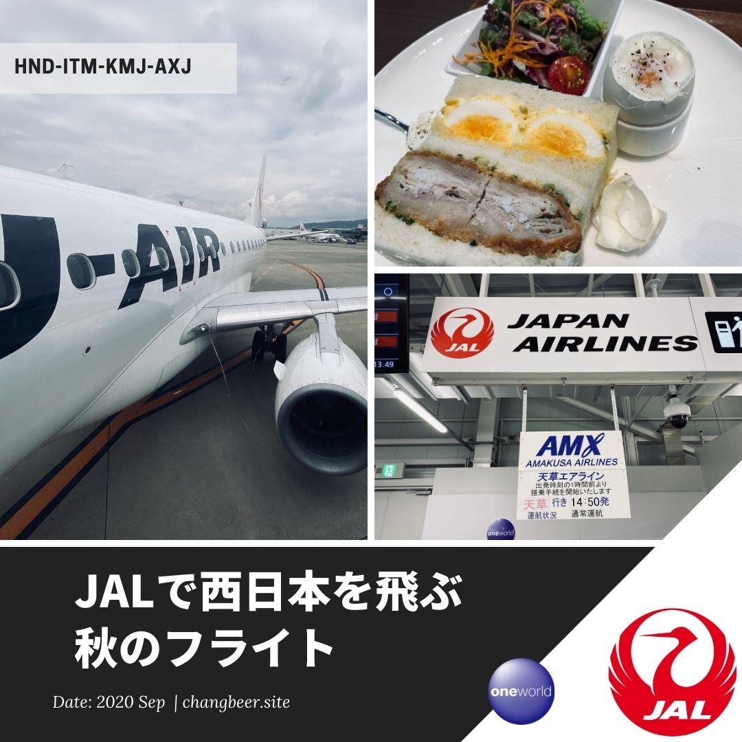 秋の変化球フライト。JALで伊丹・熊本乗り継ぎ、天草で空振り。