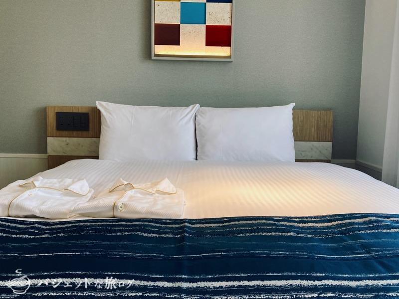 沖縄逸の彩 温泉リゾートホテルのブログ宿泊記レビュー(客室ベッド)