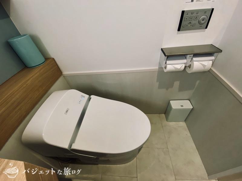 沖縄逸の彩 温泉リゾートホテルのブログ宿泊記レビュー(ウォシュレットトイレ)