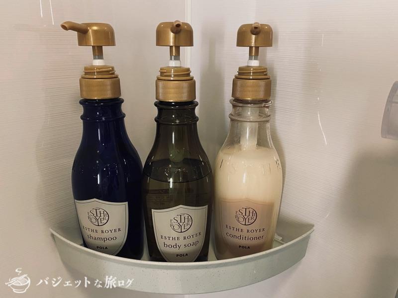 沖縄逸の彩 温泉リゾートホテルのブログ宿泊記レビュー(シャンプー、コンディショナー、ボディーソープ)