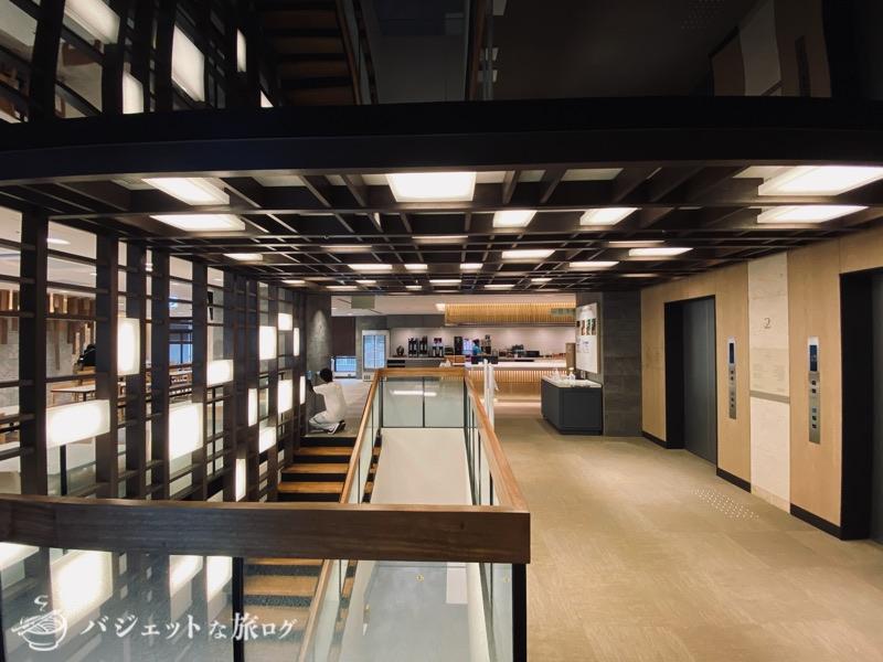 沖縄逸の彩 温泉リゾートホテルのブログ宿泊記レビュー(2階エレベーター前)