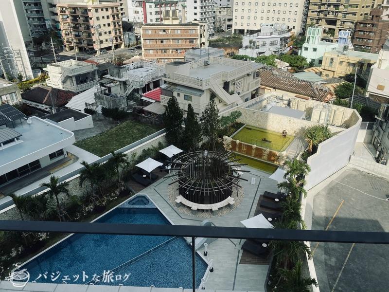 沖縄逸の彩 温泉リゾートホテルのブログ宿泊記レビュー(客室からの風景)