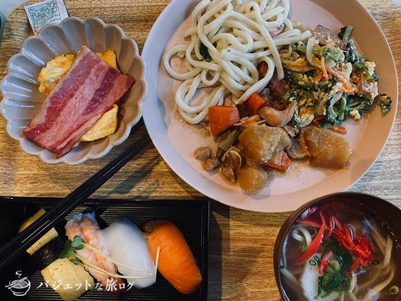 沖縄逸の彩 温泉リゾートホテルのブログ宿泊記レビュー(炭水化物多めな朝食)