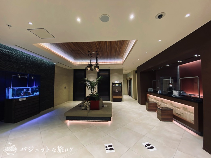 アルモントホテル那覇県庁前の宿泊記・ブログレビュー(ホテルロビー)