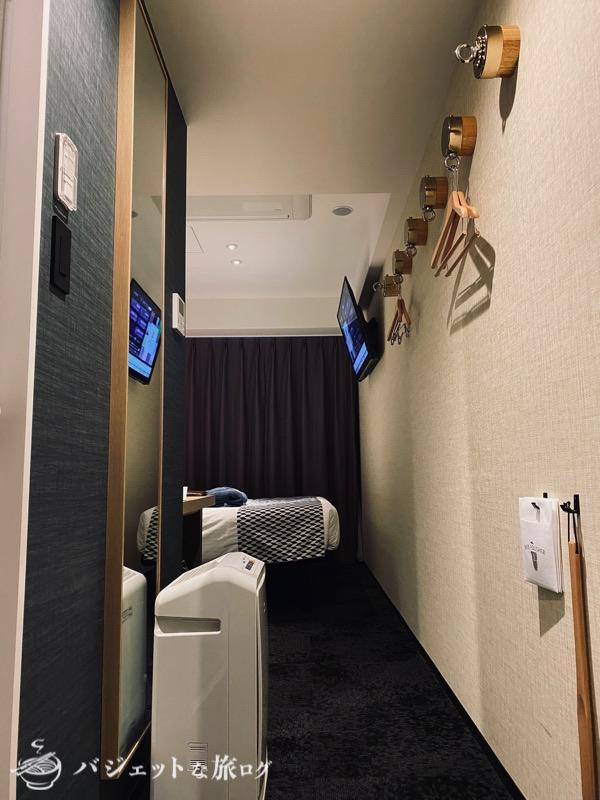 中洲まで徒歩圏内「ホテル・トリフィート博多祇園」宿泊記・ブログビュー(客室入り口)