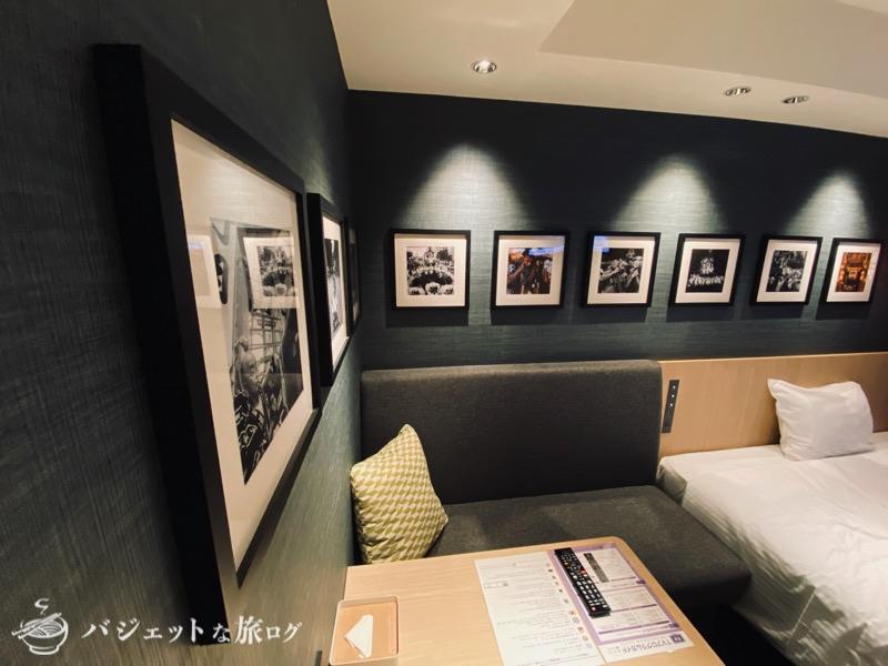 中洲まで徒歩圏内「ホテル・トリフィート博多祇園」宿泊記・ブログビュー(客室にある山笠の写真)