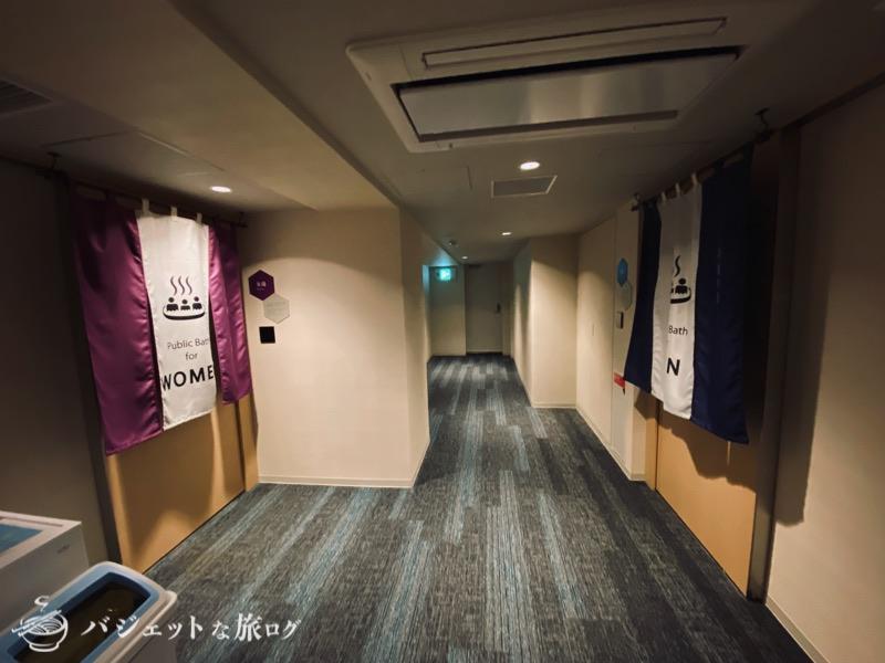 中洲まで徒歩圏内「ホテル・トリフィート博多祇園」宿泊記・ブログビュー(大浴場の入り口)