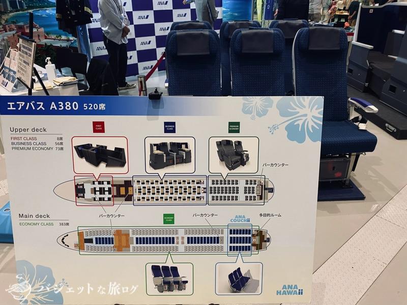 熊本にふらっと行ったら「くまもと空博2021」に遭遇した(A380シートマップとエコノミークラスシート)