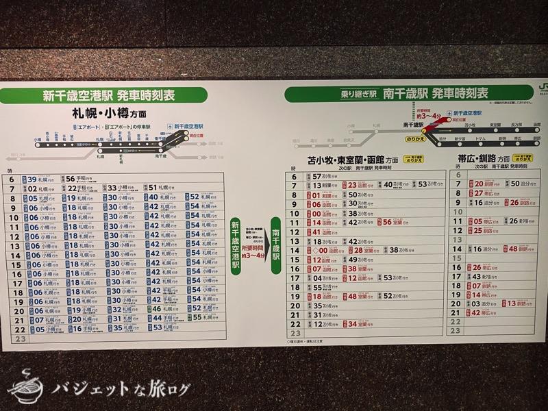 新千歳空港「エアターミナルホテル」ブログレビュー(道内への電車時刻表)