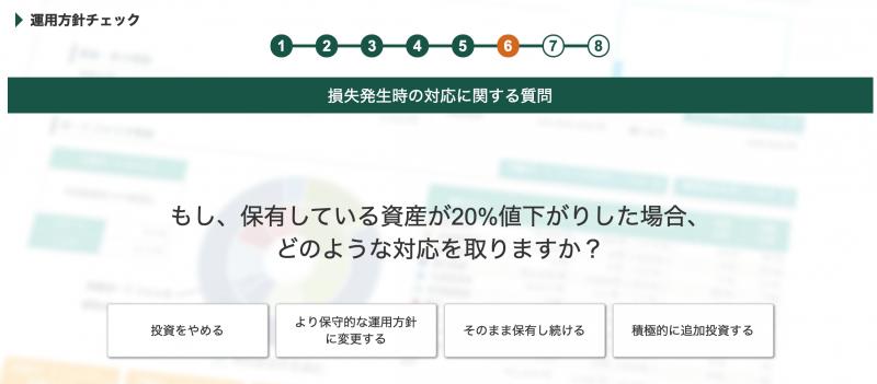 松井証券ロボアドバイザー投信工房(投資診断)